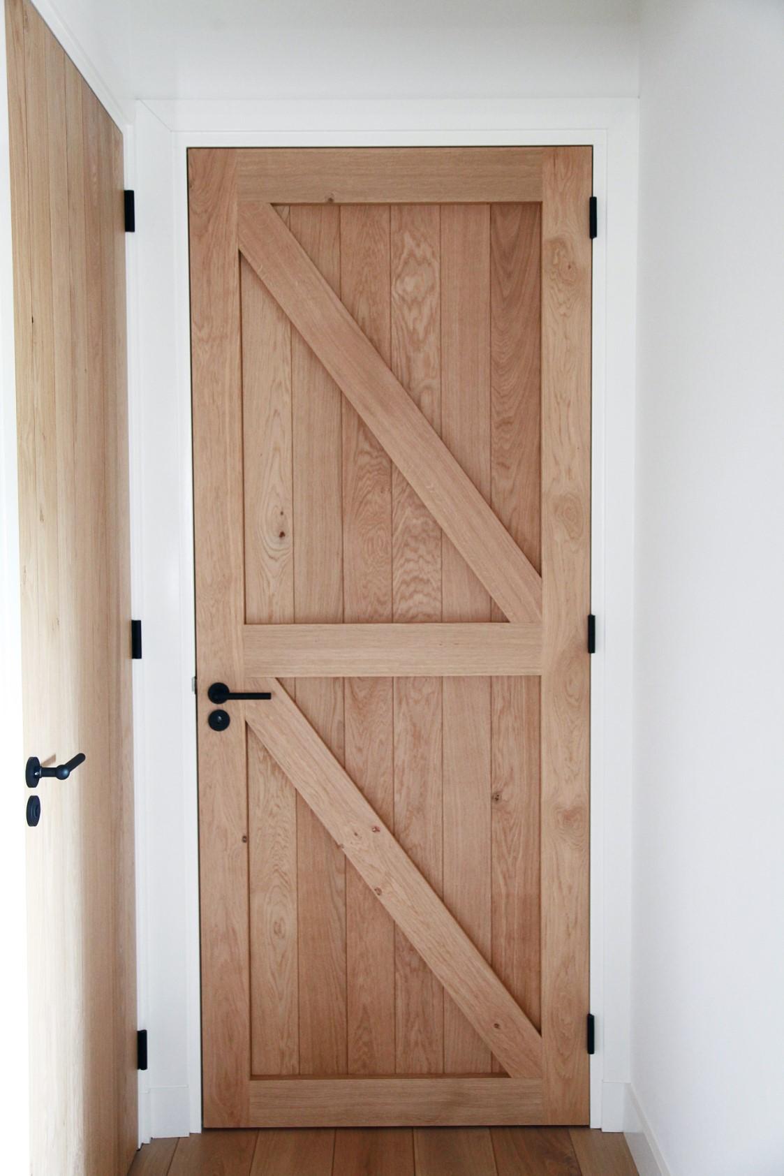 Opgeklampte eiken deuren project someren frank van den for Top deuren